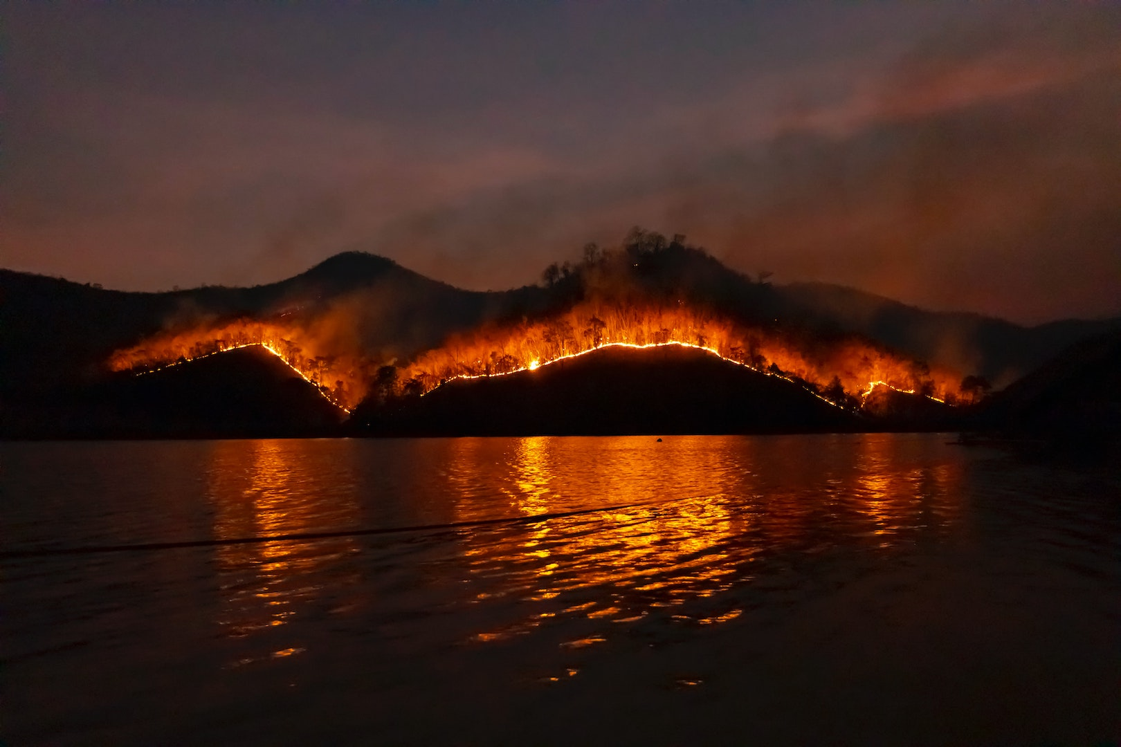 Image of a wildfire in California. Learn five innovative solutions for wildfires with TEDxMilehigh.
